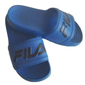 Fila  Blue Slip On Slide Sandals Kids  Size 13