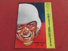1960 SAN FRANCISCO FORTY NINER'S vs Baltimore Colts NFL PROGRAM Brodie Unitas