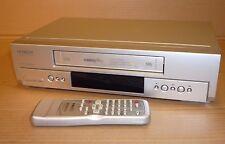 SILVER HITACHI VIDEOCASSETTA Lettore/Registratore VCR NTSC 6 HEAD NICAM VHS