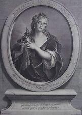 Pierre DREVET (1663-1738): Portrait. Le Couvreur D'apres Coypel. Gravure 18 ème.