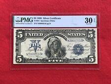 "FR-281 1899 Series $5 Dollar Silver Certificate ""Chief"" *PMG 30 EPQ Very Fine*"