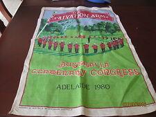 PURE LINEN TEA TOWEL - SALVATION ARMY CENTENARY CONGRESS 1980 ADELIADE
