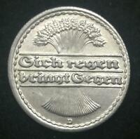 Historical Antique - German 1921 50 Pfennig Coin - Hold a piece of History
