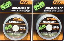 Fox Armadillo Schlagschnur & Extrem-Vorfach 30 Lbs, 45lbs, 65lbs, camou Leader