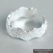 Genuine 925 Sterling Silver Toe Ring Band Knuckle Fully Adjustable Open Jewelry
