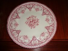 Swinnertons Staffordshire England KENT Side Plate Red Pink And White