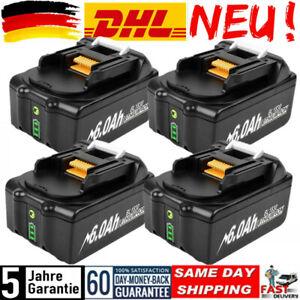 4pcs 18V 6,0Ah akku Für Makita BL1850 BL1860 BL1830 BL1840 BL1820 LXT400 battery