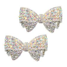 2x pedrería bowknot Charms clip boda zapatos de novia hebilla decorativa joyas