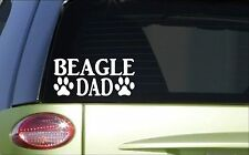 Beagle Dad *H781* 8 inch Sticker decal hound rabbit hunting dog box vest shell