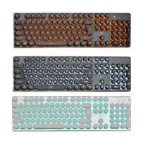 K100 Colorful Retro LED Illuminated Backlit USB Wired PC Backlit Gaming Keyboard