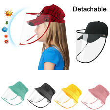Kids Boys Girls Safety Full Face Shield Protection Cover Anti-Splash Sun Hat Cap