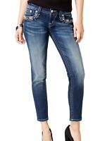 Miss Me Womens Jeans Blue Size 27x26 Signature Crop Skinny Ankle Stretch $99 988
