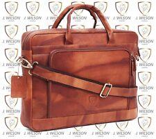 Mens Leather Laptop Bag Designer Ladies Shoulder Cross Body Work Messenger Case
