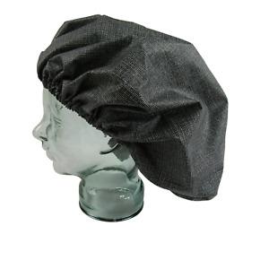 Extra Large Shower cap waterproof laminated cotton black Ink