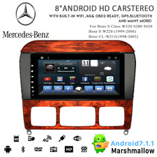 """8"""" Android 7.1 Car Radio DVD Stereo Player GPS for Benz S Class W220 CL-W215"""