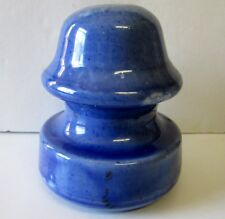VINTAGE BLUE NO NAME  PORCELAIN INSULATOR