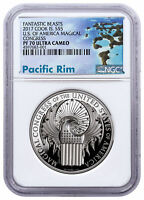 2017 Cook Islands Fantastic Beasts Magical Congress HR $5 NGC PF70 UC SKU49167