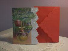 Carol's Rose Garden - Christmas Card - Dangeling Christmas Ornaments