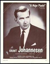 1959 Grant Johannesen photo piano recital tour booking trade print ad