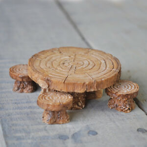 Fairy Garden Accessories: Seats, Benches, Tables, Stools, Fiddlehead Miniatures