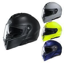 HJC i90 Solid Motorcycle Flip Helmet with Visor Touring