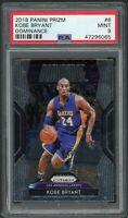 Kobe Bryant Los Angeles Lakers 2018 Panini Prizm Basketball Card #6 PSA 9 MINT