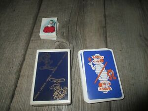 Bonux-Réunion de  collectors publicitaires-Jeux de cartes dont 1 mini