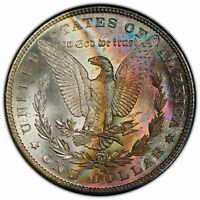 COLORFUL Rainbow Toned 1882-S Morgan Dollar PCGS MS66 BU UNC MONSTER (DR)