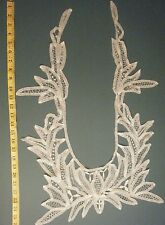 ANTIQUE HANDMADE LARGE TAPE & BOBBIN LACE COLLAR/DRESS FRONT BRIDAL COUTURE