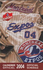 2004 MONTREAL EXPOS BASEBALL POCKET SCHEDULE - FRENCH AND ENGLISH