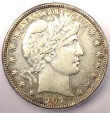 1907 Barber Half Dollar 50C - Certified ICG AU50 - Rare Date - Certified Coin!