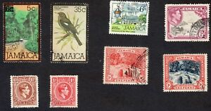 Jamaica: Small selection of fine used stamps; birds, waterfalls, university