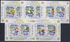 50 JAHRE EUROPAMARKEN CEPT - 2005 ELFENBEINKÜSTE COTE D'IVOIRE BLOCK 169-75 A **