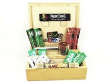 DELUXE GIFT SET LARGE WOODEN SMOKING SMOKERS ROLLING BOX