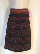 Monsoon Skirt Size 6 Petite Ladies BNWT Embroidered/ethnic Dressy
