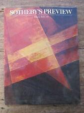 CATALOGUE VENTE AUX ENCHERES SOTHEBY'S PREVIEW MARS AVRIL 1990