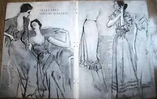 1949 Sweet Grey News In Lingerie Gown Slip  Fashion Ad