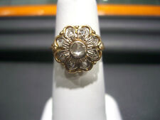 ANTIQUE VINTAGE- RING 14 KARAT YELLOW GOLD DIAMOND!!! WOW!! ROSE CUT DIAMONDS!