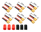 12PCS XT60 Connector Female Male Deans Plug 12AWG Silicon Wire for RC Drone Car
