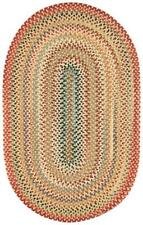 Capel Rugs Portland Wool Casual Country Braided Oval Area Rug Lt. Gold 100