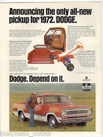 1972 DODGE Pickup advertisement, Dodge D100? Pickup truck