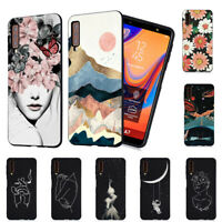 Case For Samsung Galaxy A6+ A7 A8 Plus A9 2018 Silicone Painted Slim TPU Cover