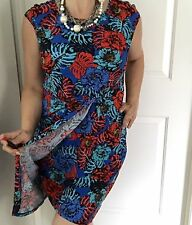 LEONA BY LEONA EDMISTON WOMENS DRESS KNEE LNT PRINTED FLORAL STRETCH SZ 12