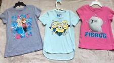 Disney's Frozen, Pets, Despicable Me Girls' T-Shirt Tops, Size 5-6X, Lot of 3