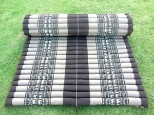 Kapok100%Thai Roll Up Mat Fold Mat Meditatation Cushion Day Bed Camping Size XL#