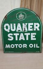 vintage advertising quaker states motor oil sign gas pump