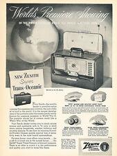 1951 Zenith Portable Radio - Original Advertisement Print Ad J250