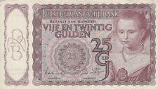 🇳🇱 25 Gulden - 1943 - Niederlande - P-60b 🇳🇱