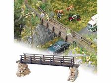 Busch 10220 Holzbrücke aus echt Holz Spur 0 mit Geröllsteinen Bausatz Neu