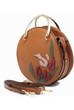 TOM&EVA ETE 2018 : sac à main rond avec décoration florale ref 17E-1864 Came